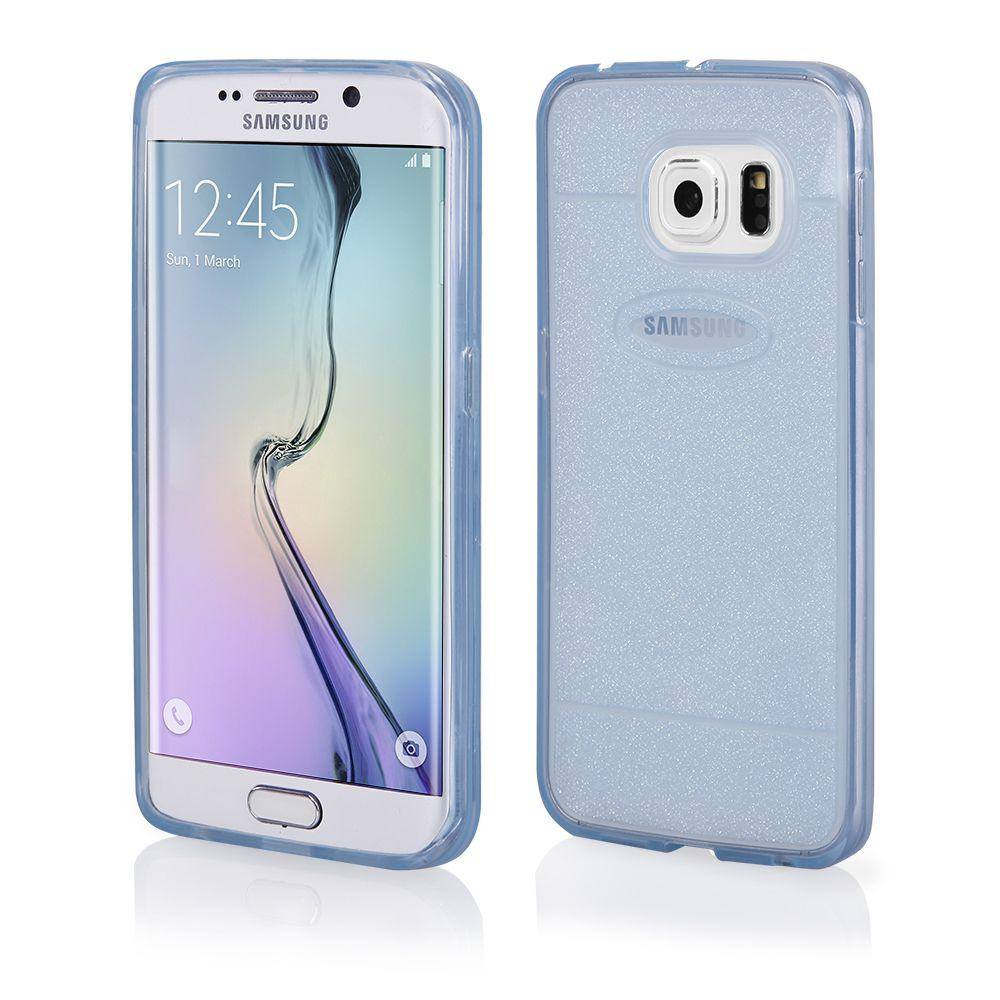 Pouzdro na Samsung G925 S6 EDGE - SHINE (zadní kryt) - modré QULT Case