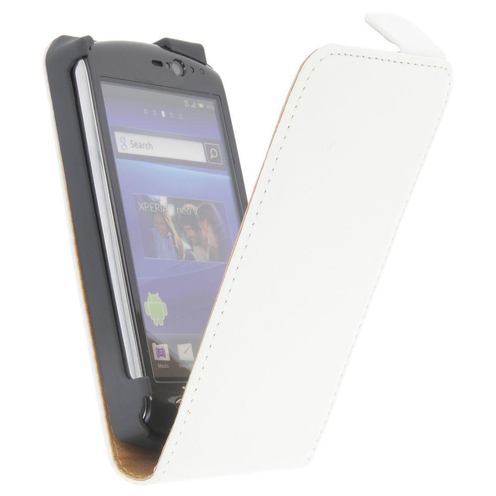 Pouzdro na SONY ERICSSON Neo/Neo V - EXCLUSIVE - bílé + dárek EGO Mobile