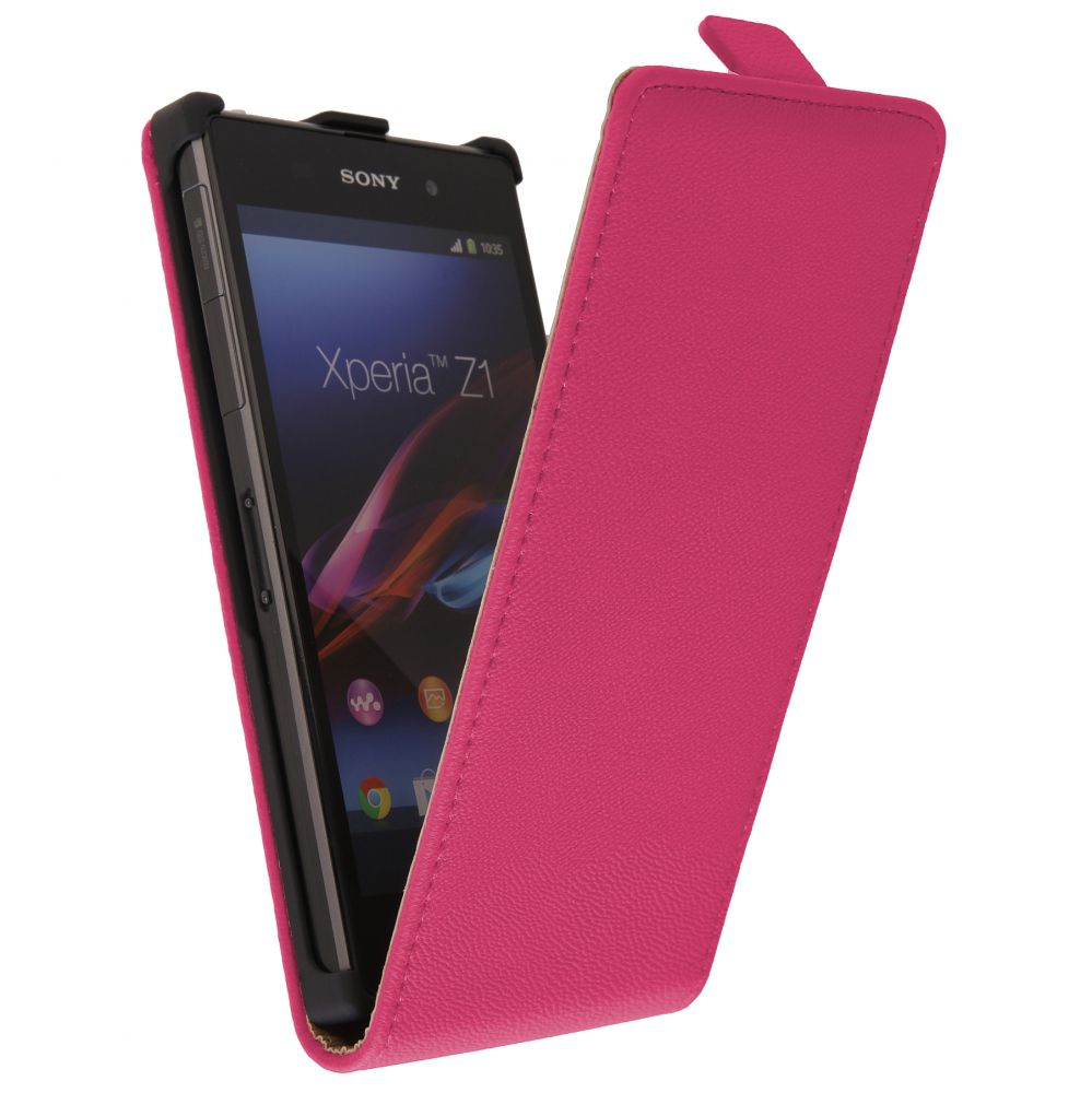 Pouzdro na Sony Xperia Z1 - EXCLUSIVE - růžové EGO Mobile