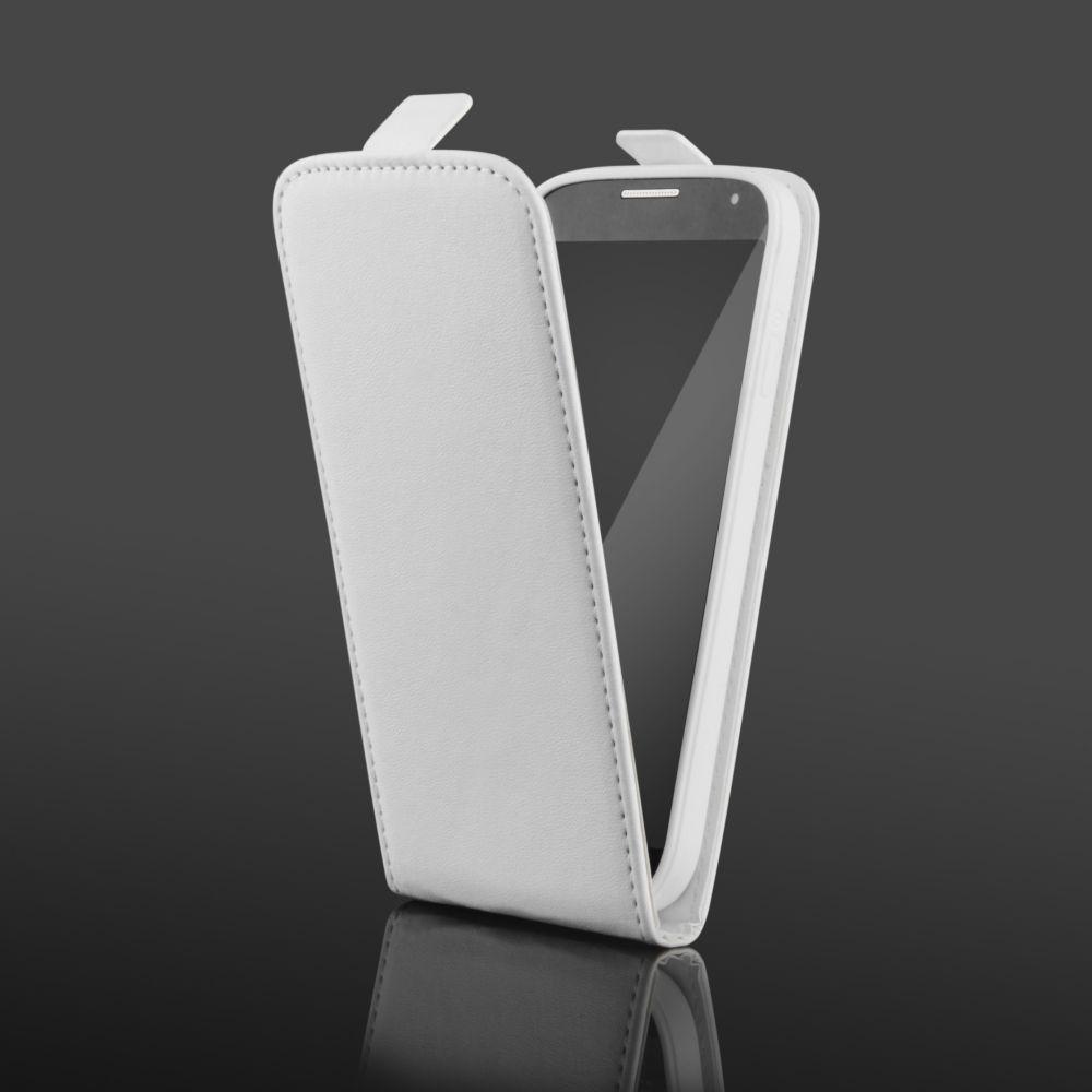 Pouzdro na Samsung G900 S5 bílé - vertikální - Flexi Ego Mobile