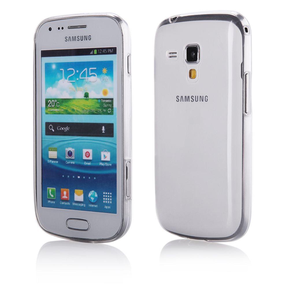 """Pouzdro na Samsung S7560/7562 Trend - """"BACK CASE FITTY"""" (zadní kryt) - bílé Jelly Case"""