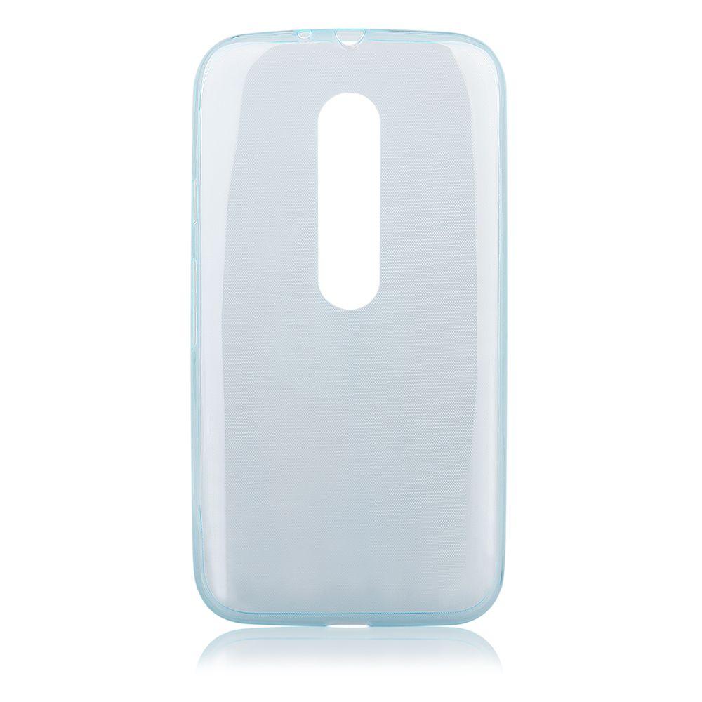 Pouzdro na Motorola MOTO G3 (2015) - FITTY - modré Jelly Case