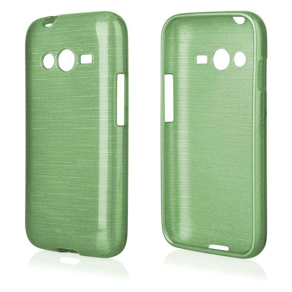 "Pouzdro na Samsung G318 Trend Lite 2 - ""METALLIC JELLY COVER"" - zelené Ego mobile"