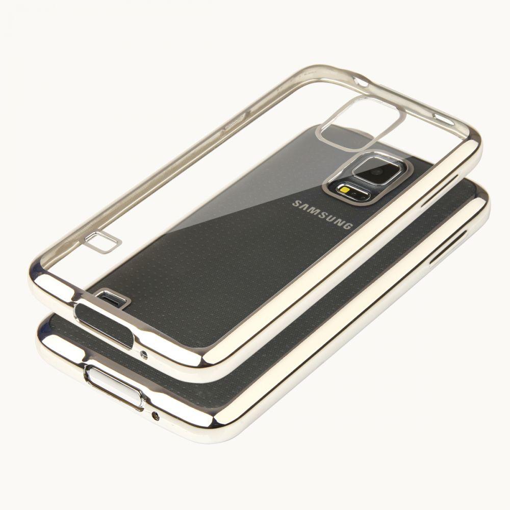 """Pouzdro na Samsung G900 S5 - """"GLOSSY"""" - stříbrné Ego Mobile"""