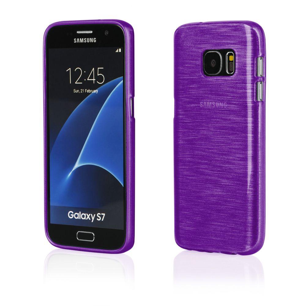 "Pouzdro na Samsung G930 S7 - ""METALLIC JELLY COVER"" - fialové Ego mobile"
