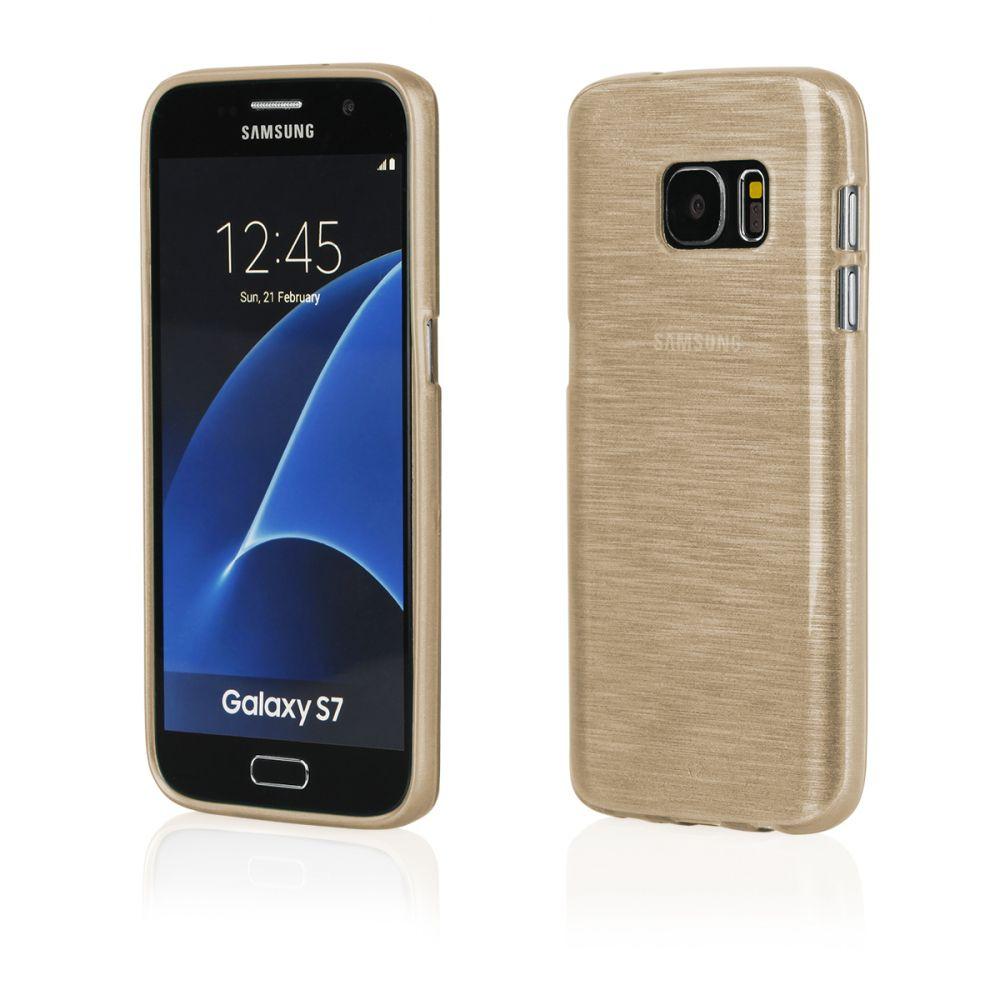 """Pouzdro na Samsung G930 S7 - """"METALLIC JELLY COVER"""" - zlaté Ego mobile"""