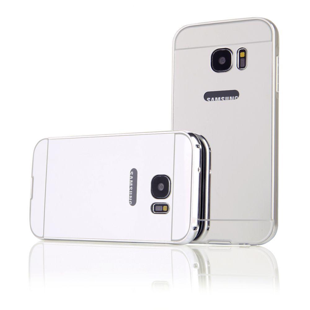 Pouzdro na Samsung G930 S7 - LUXURY+GLASS MIRROR - stříbrné QULT Case