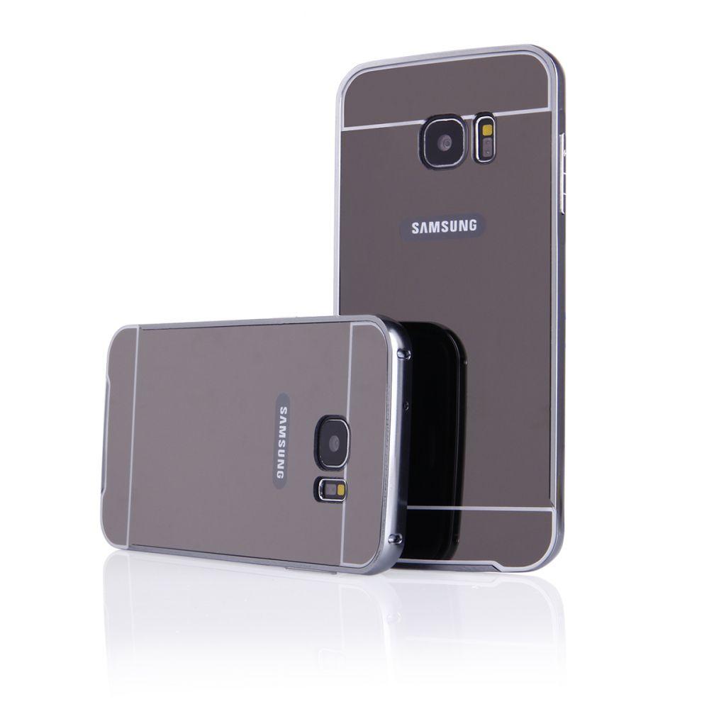 Pouzdro na Samsung G935 S7 EDGE - LUXURY+GLASS MIRROR šedé QULT Case
