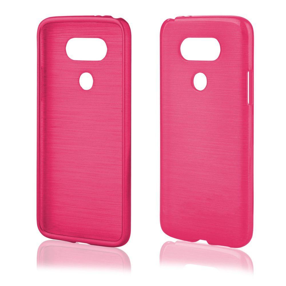 """Pouzdro na LG G5 (H850) - """"METALLIC JELLY COVER"""" - růžové Ego mobile"""
