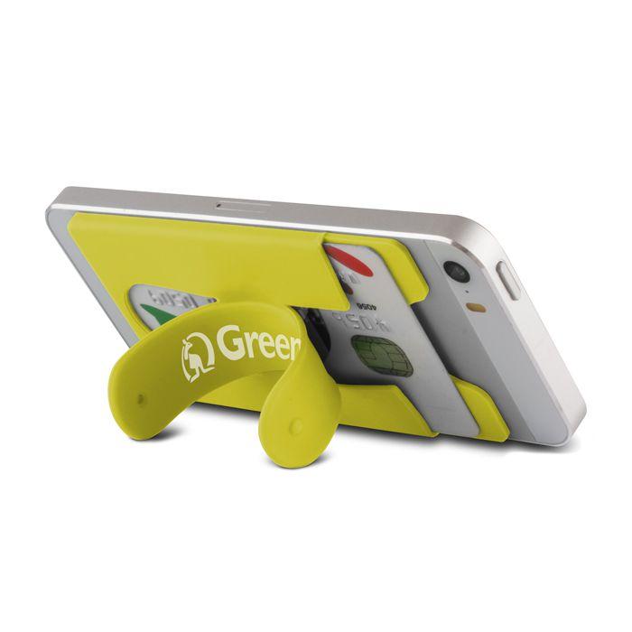 Univerzální silikonová kapsička - Stand - žlutá GreenGo
