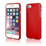 "Pouzdro na iPhone 7 - ""METALLIC JELLY COVER"" - červené"