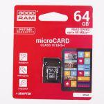 PAMĚŤOVÁ KARTA GOODRAM Micro SD 64GB 10cl.