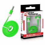 KABEL USB pro iPhone 3G/3Gs/4/4s plochý zelený