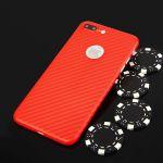 Pouzdro na iPhone 7 - zadní kryt CARBON PC červené