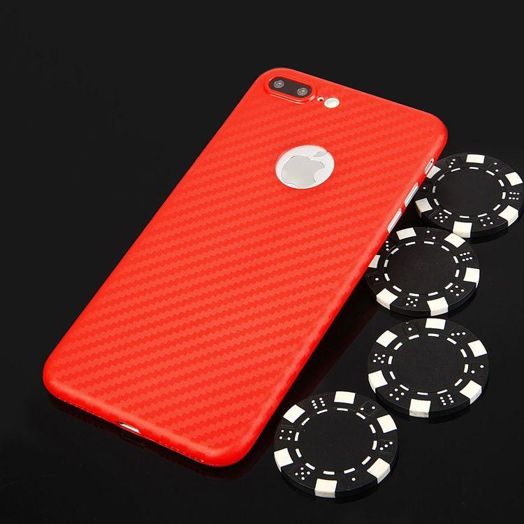 Pouzdro na iPhone 7 - zadní kryt CARBON PC červené Global technology