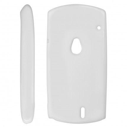 Pouzdro na Nokia 306 Asha bílé - JELLY CASE