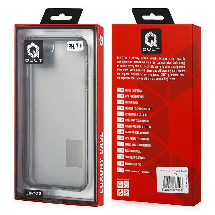 Pouzdro Qult na Samsung G950 S8 Jelly průhledné černé QULT Case
