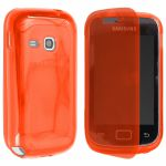 Pouzdro na Samsung S6310 - Jelly Ultra Case - oranžové