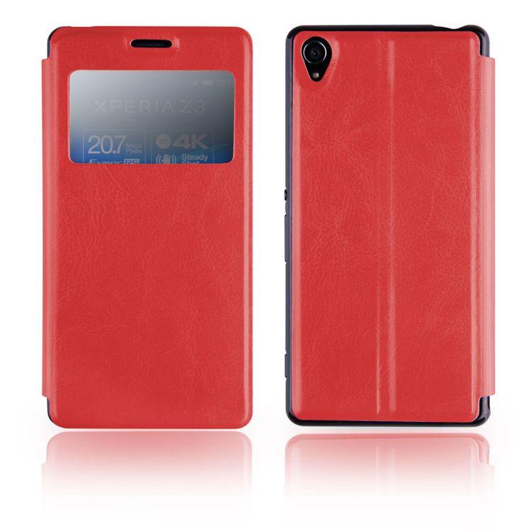Pouzdro EGO Mobile na Sony Xperia Z3 (D6653) - SLIM VIEW - červené