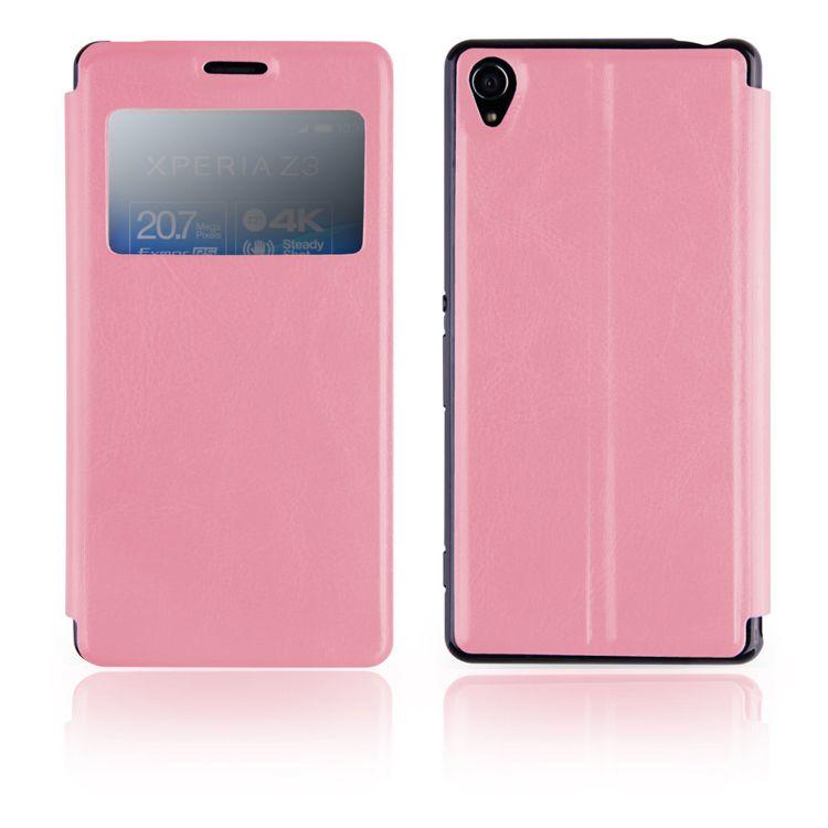 Pouzdro EGO Mobile na Sony Xperia Z3 (D6653) - SLIM VIEW - růžové