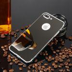 Pouzdro na iPhone 7 Plus - Luxury + Glass mirror - šedé