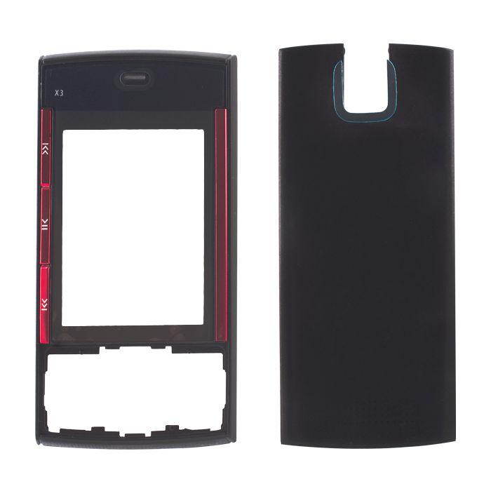 Výměnný kryt pro Nokia X3 černý (přední díl/zadní díl) Global technology