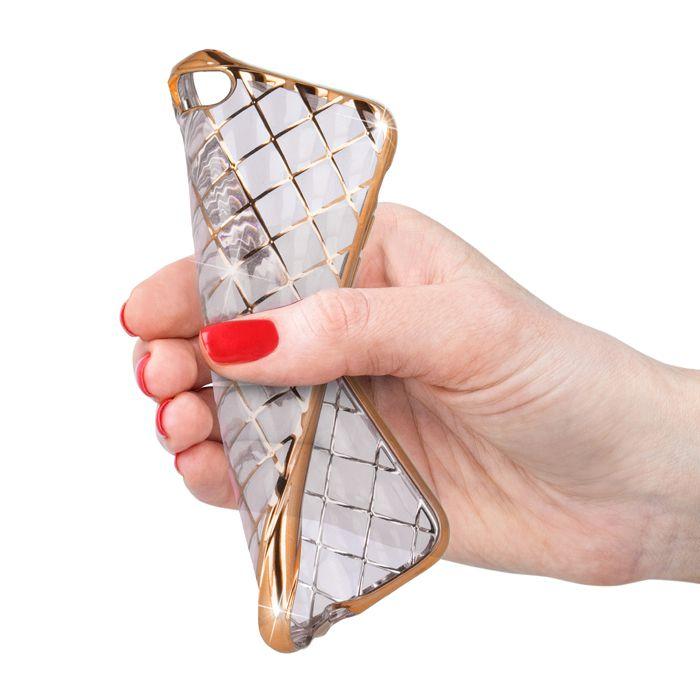 Pouzdro 3D Grid na iPhone 6 / 6S zlaté Grid Case
