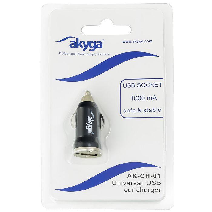 Nabíječka mobilu Akyga AK-CH-01 12V USB 1000mA - do auta