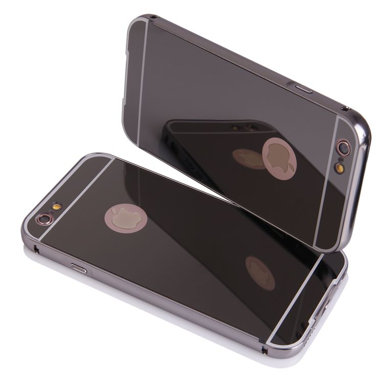 "Pouzdro na iPhone 6 5.5"" - LUXURY+GLASS MIRROR šedé QULT Case"