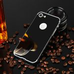 Pouzdro na iPhone 7 / 8 - Luxury + Glass mirror - šedé