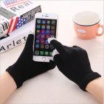 Dotykové rukavice - univerzální velikost - černé