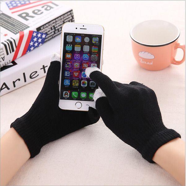 Dotykové rukavice - univerzální velikost - černé Ego mobile