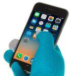 Dotykové rukavice - univerzální velikost - modré Ego mobile