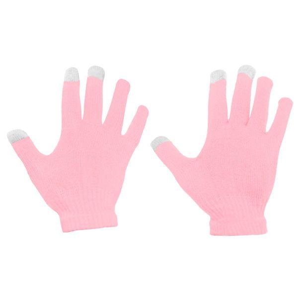 Dotykové rukavice - univerzální velikost - růžové Ego mobile