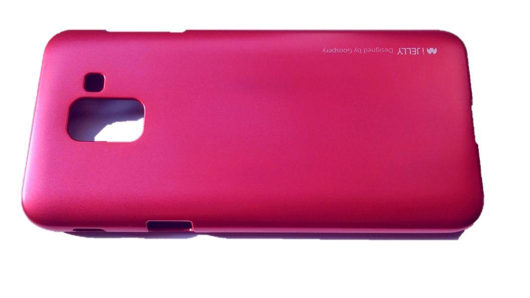 Pouzdro Goospery Mercury Jelly na Samsung J6 J600 2018 tmavě růžové
