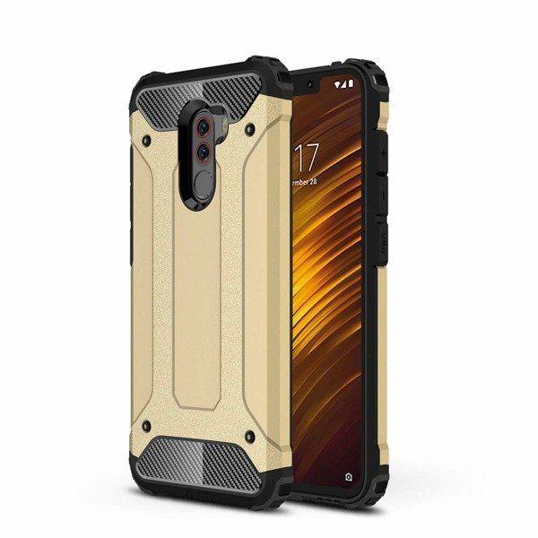 Pouzdro Hybrid Armor na Xiaomi Pocophone F1 zlaté