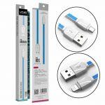 Kabel USB LDNIO XS07 iPhone - 1 metr - bílý