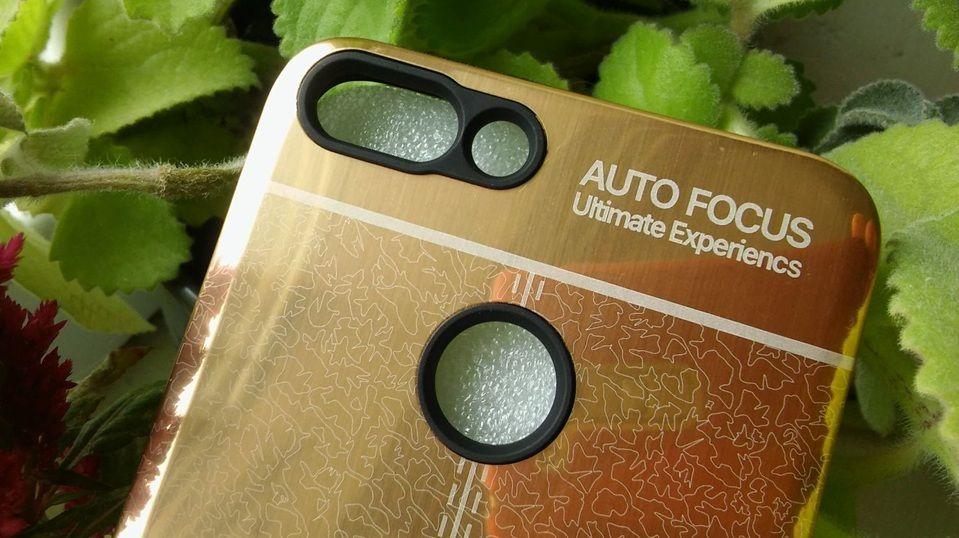 Pouzdro Autofocus na Huawei P20 Lite - zlaté zrcadlo