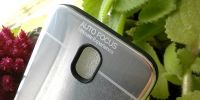Pouzdro Autofocus na Samsung A5 / A8 2018 - stříbrné zrcadlo