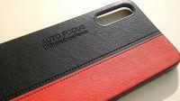 Pouzdro Autofocus na Samsung A70 A705 kožené - černo-červené