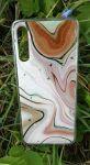 Pouzdro Blink Case Mramor na Samsung A50 A505 - růžové Jelly Case