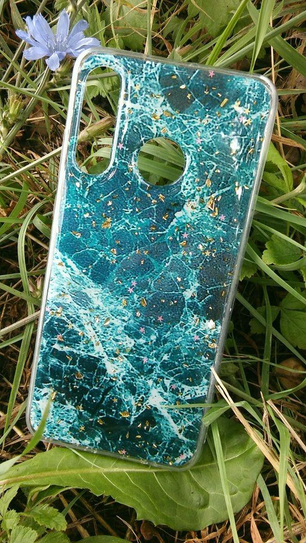 Pouzdro Blink Case Mramor pro Huawei P30 Lite - zelené