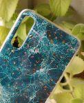 Pouzdro Blink Case Mramor pro Samsung A70 - zelené