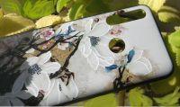 Pouzdro Funny Case pro Huawei P Smart Z - Flowers 3D - bílé
