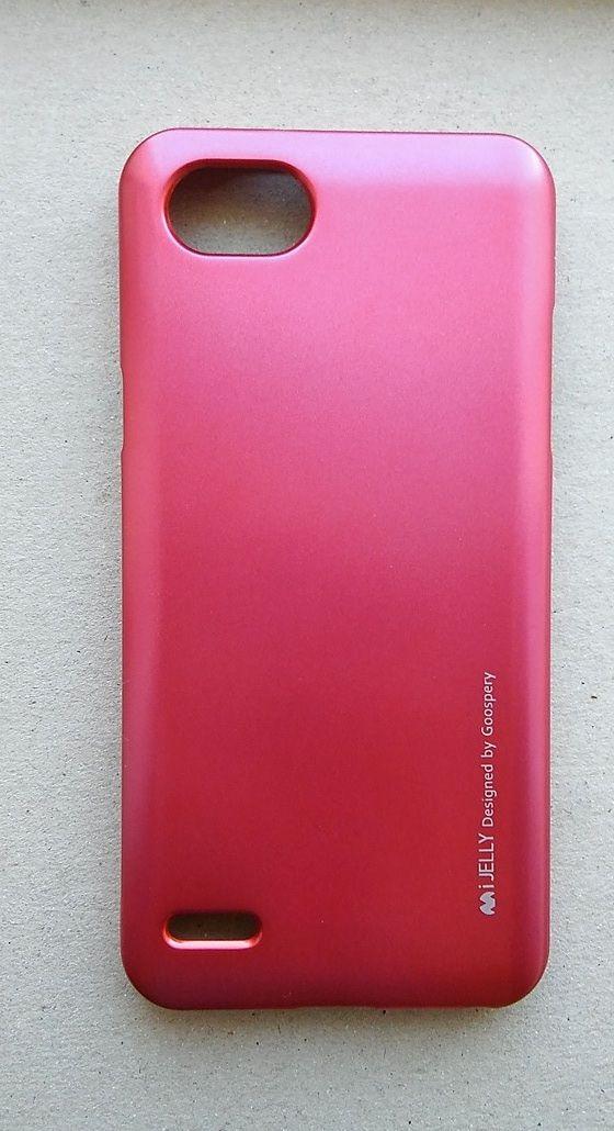 Pouzdro Goospery Mercury Jelly na LG Q6 - tmavě růžové