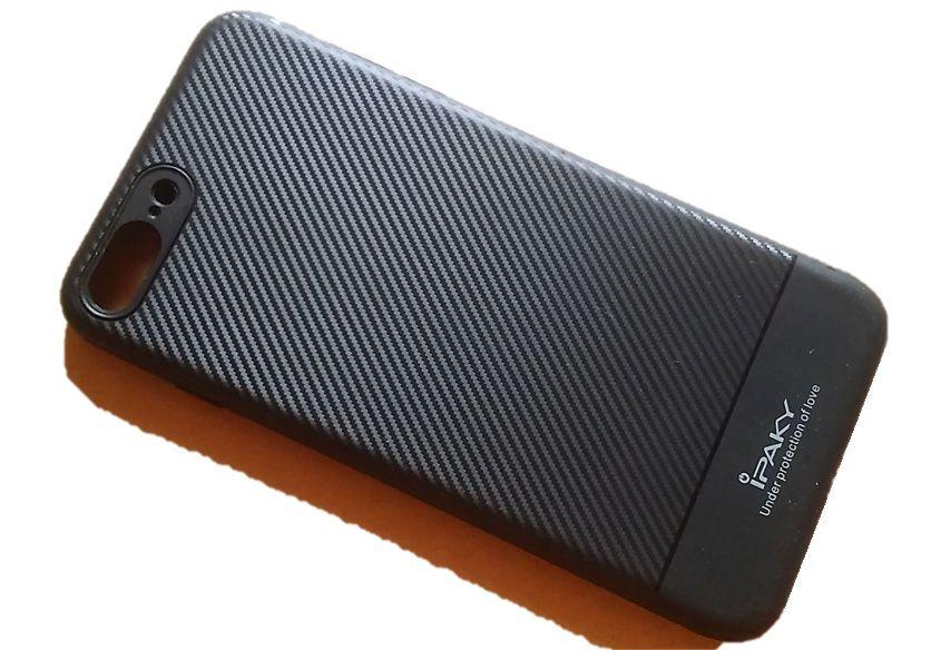 Pouzdro Ipaky na iPhone 7 / 8 Plus - Jelly Carbon - černé