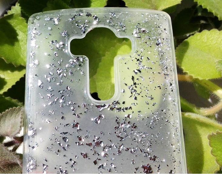 Pouzdro Jelly case na LG G4 Třpytky - stříbrné