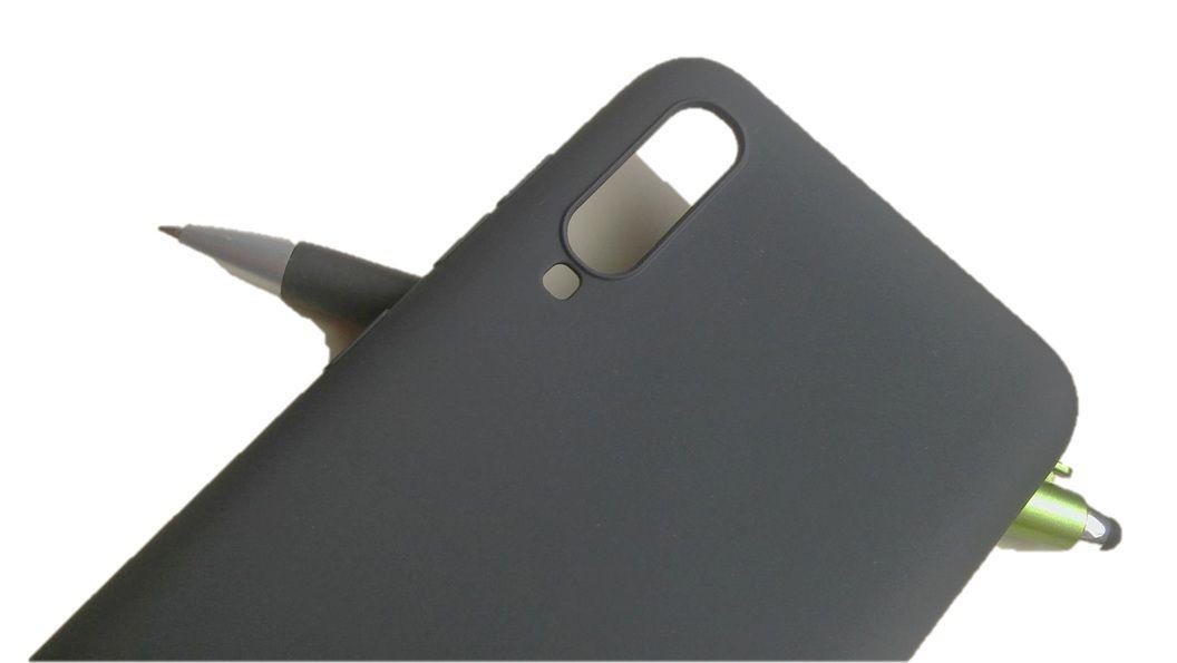 Pouzdro Jelly Case na Samsung A70 - Matt - černé