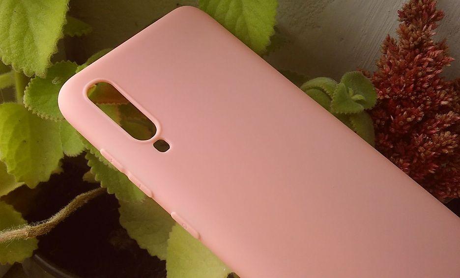 Pouzdro Jelly Case na Samsung A70 - Matt - růžové