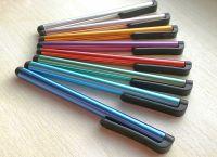 Kapacitní stylus - dotykové pero - dlouhé - stříbrné